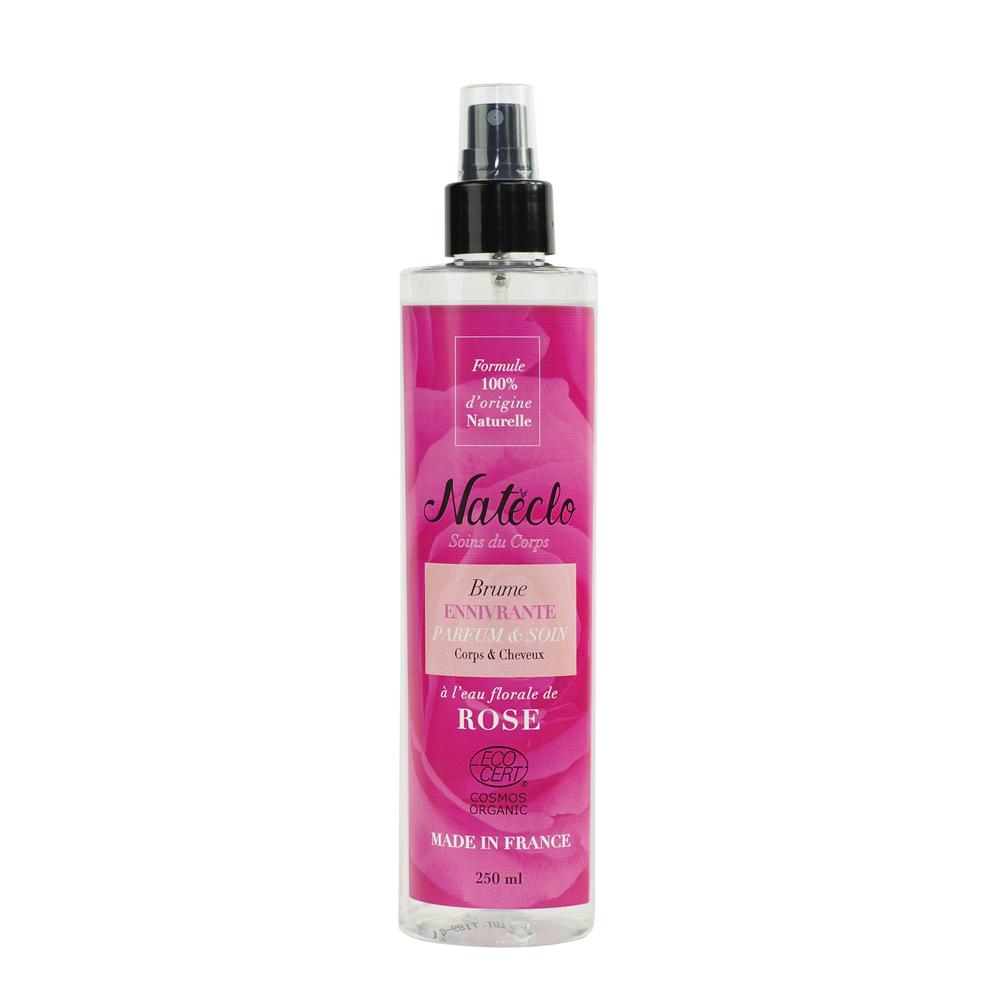 ECOCERT Brume de parfum Natéclo corps & cheveux à la rose, 250mL
