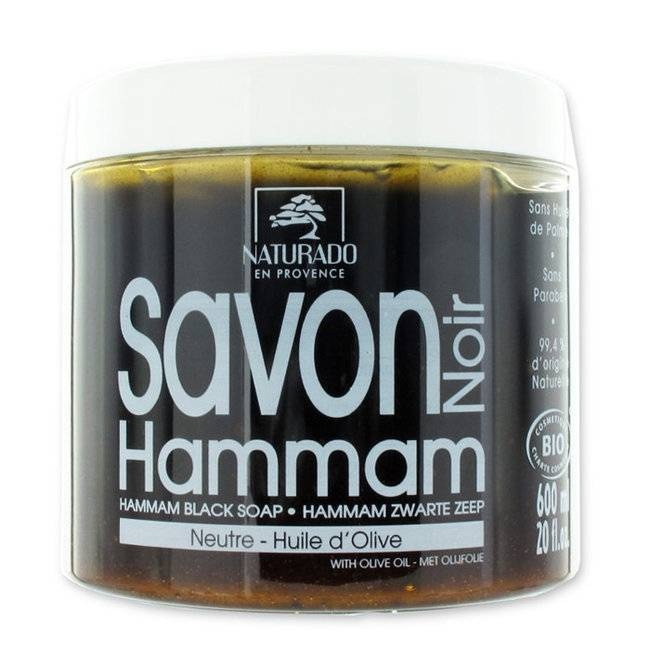 BIO FOR MEN NATURADO - Savon noir bio Hammam à l'huile d'olive 600ml