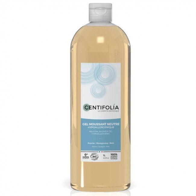CENTIFOLIA - Gel moussant neutre bio - Corps et cheveux - 1L