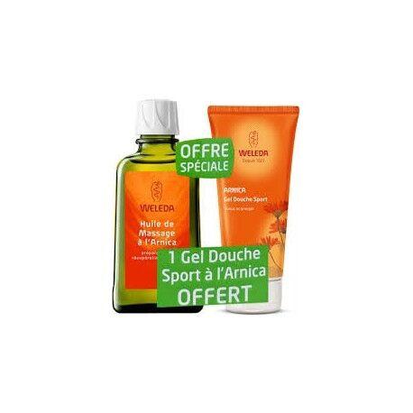 WELEDA Huile de Massage Arnica + Gel douche Sport à l'Arnica Offert -...