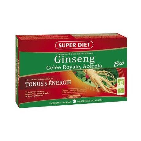 SUPER DIET Ginseng, Gelée Royale, Acérola Bio - SuperDiet