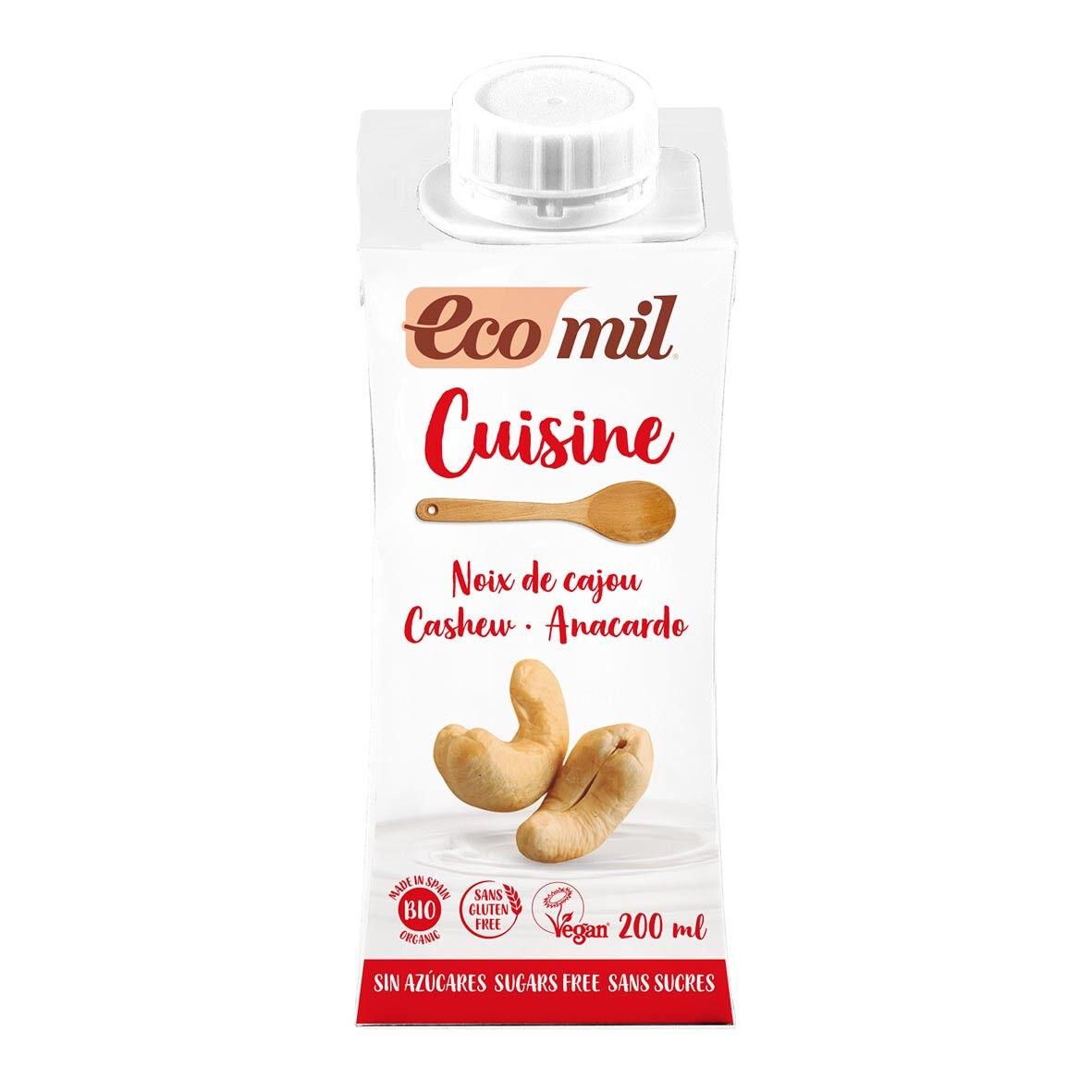 ECOMIL Crème Cuisine Noix de Cajou Nature 200ml Bio - Ecomil