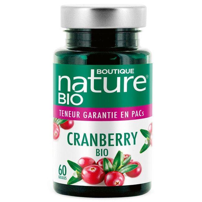 BOUTIQUE NATURE - Cranberry bio - Confort urinaire - 60 gélules