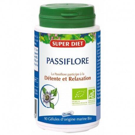 SUPERDIET Passiflore Bio- Détente et Relaxation - Gélules - SuperDiet