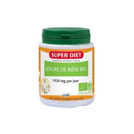 SUPERDIET Levure de Bière Bio - 100 Gélules - SuperDiet