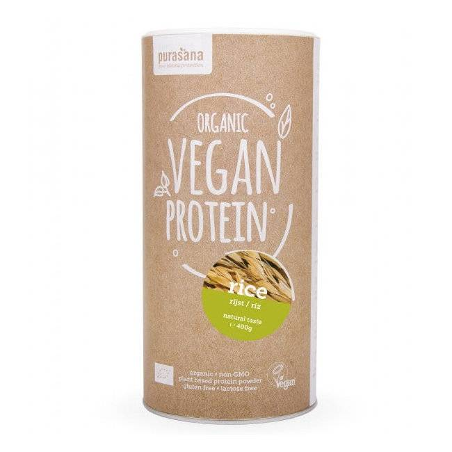 PURASANA - Protéine de Riz nature bio - Vegan - 400 g