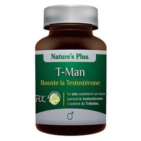 Relais Bio T-Man Vegan sans Gluten - Booste la testostérone - 30 gélules