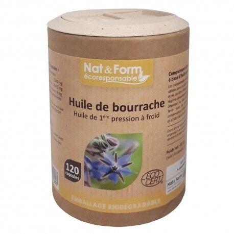 NAT & FORM Huiles de Bourrache - 120 Capsules - Nat & Form