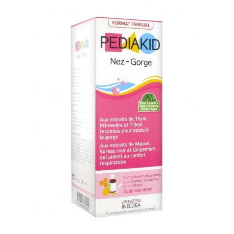 PEDIAKID Sirop Nez-Gorge sans Gluten - Goût miel citron - 250ml - Pediakid