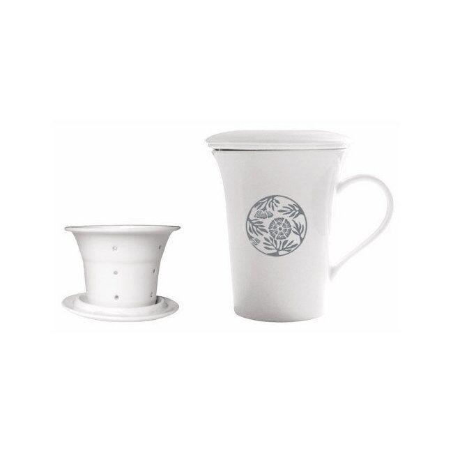 ENCENS DU MONDE HILDEGARDE DE BINGEN - Tisanière en porcelaine d'art 0,25L