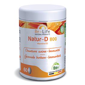 Lechoppebio Natur-D 800 (Vitamine D3) 200 capsules - Belife