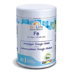 BE-LIFE Fe (VIT. B9 et B12) 60 gélules - Belife