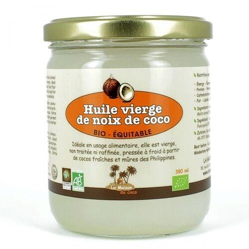 LA MAISON DU COCO Huile vierge de coco bio & équitable 380 ml