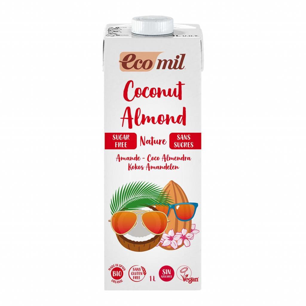 ECOMIL Lait Coco-Amandes Nature 1L Bio - Ecomil