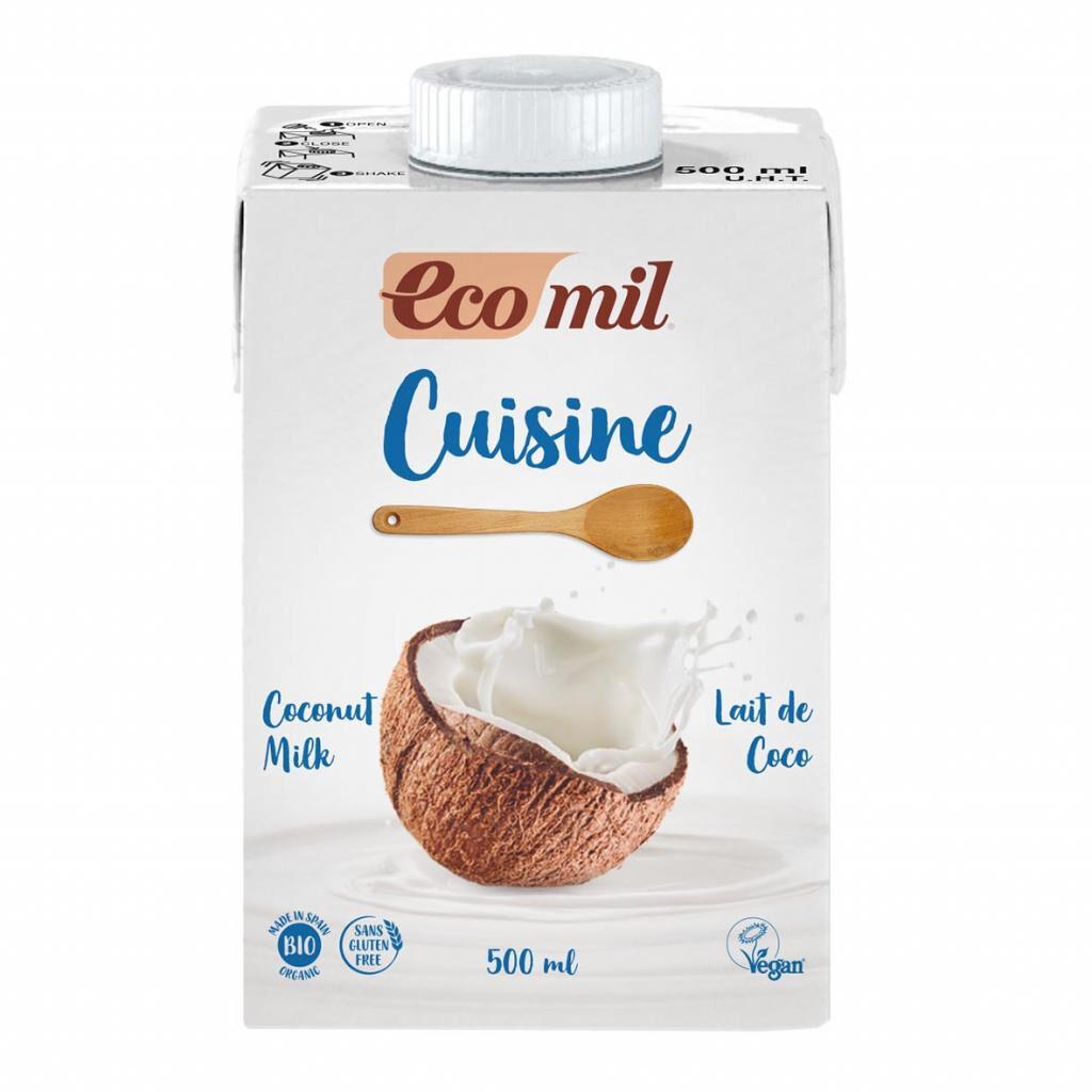ECOMIL Crème Cuisine Lait de Coco 500ml Bio - Ecomil
