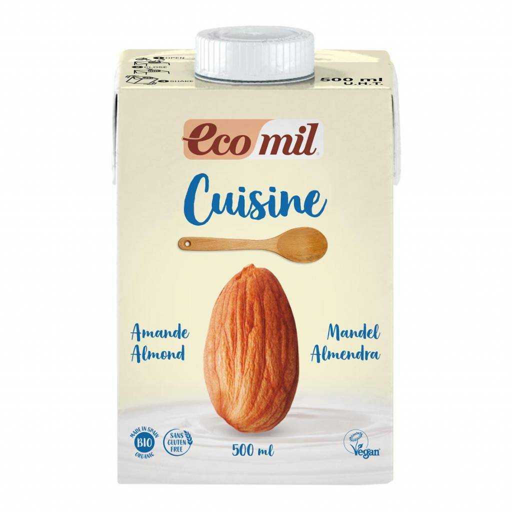 ECOMIL Crème Cuisine aux Amandes 500ml Bio - Ecomil