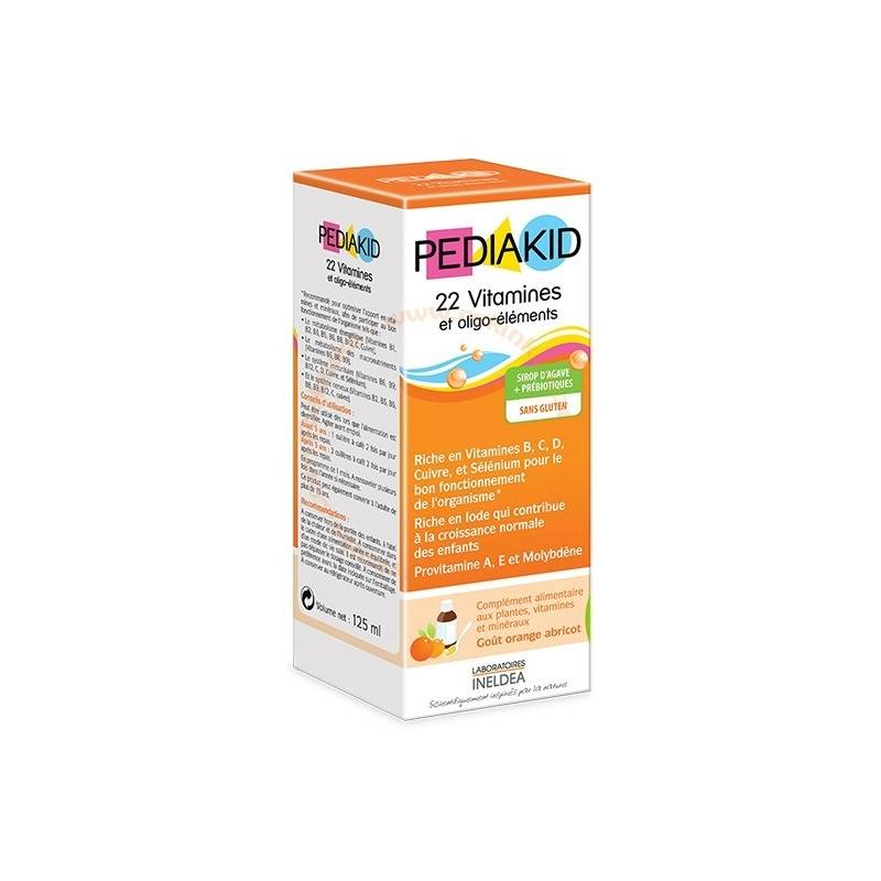 Vitaforce Sirop 22 Vitamines & Oligo-Éléments sans Gluten - Goût orange...