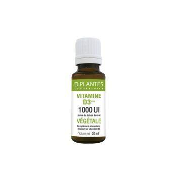 D. PLANTES Vitamine D3++ Végétale 1000 UI - D.Plantes