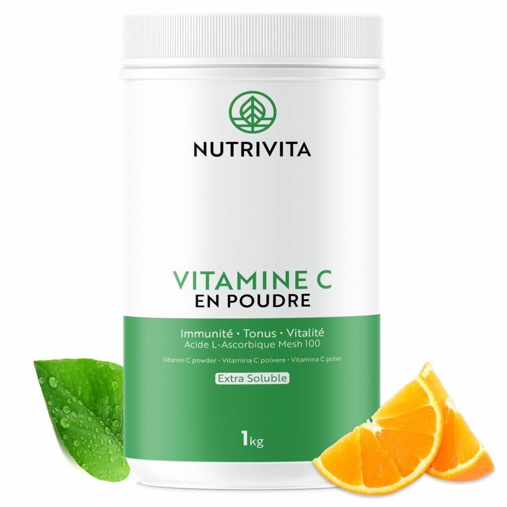 Nutrivita Vitamine C pure en poudre - Acide L(+) Ascorbique - 1kg