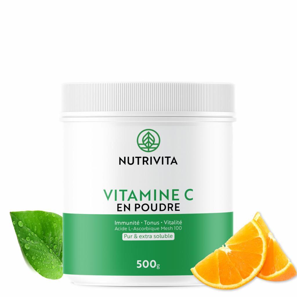 Nutrivita Vitamine C pure en poudre - Acide L(+) Ascorbique - 500g