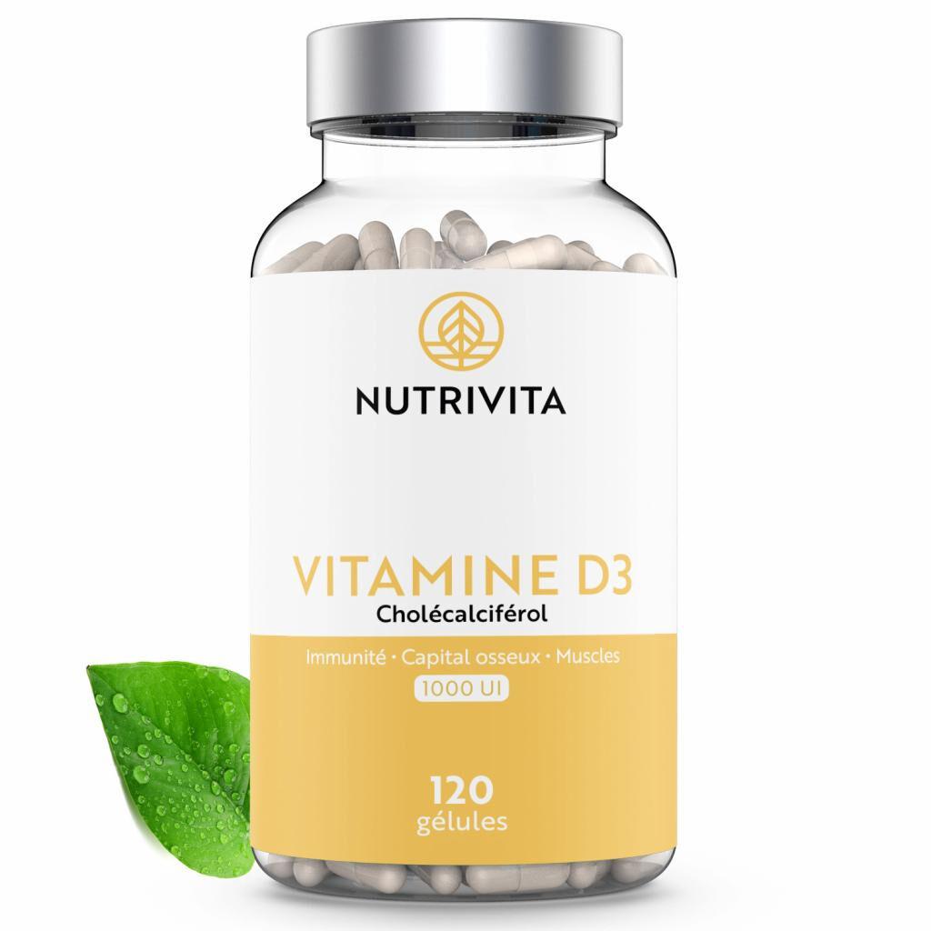 Nutrivita Vitamine D3 1000UI - 120 gélules