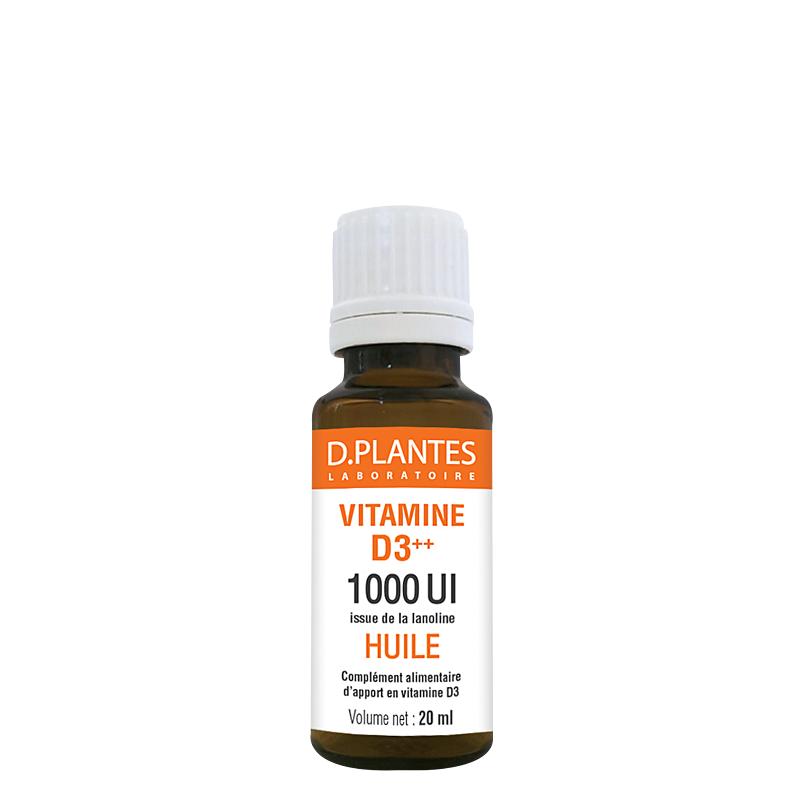 D. PLANTES Vitamine D3++ Huile 1000 UI - D.Plantes