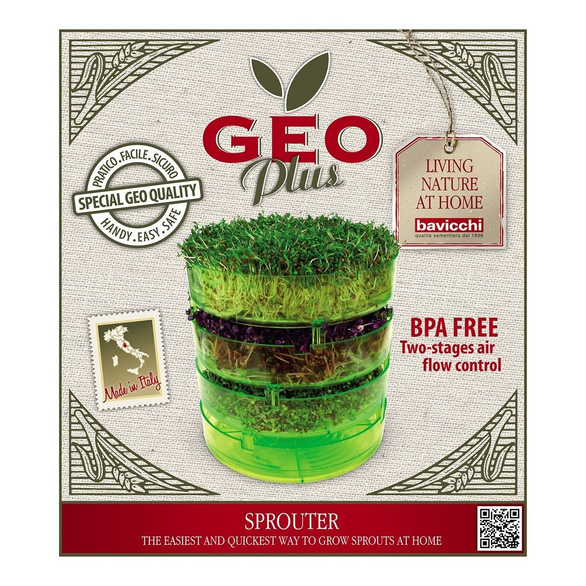 Lechoppebio Germoir pour graines à germer Geo Plus - Geo