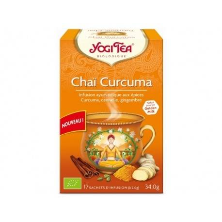 YOGI TEA Chaï Curcuma - 17 infusettes - Yogi Tea