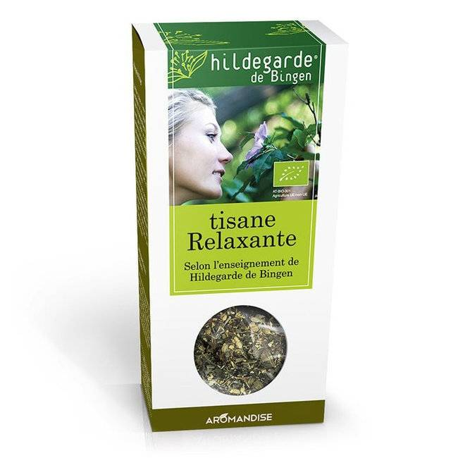 AROMANDISE HILDEGARDE DE BINGEN - Tisane bio Relaxante en vrac - Boîte de 40g