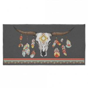 Eminza Tapis multi-usage (115 cm) Indian Folk Multicolore