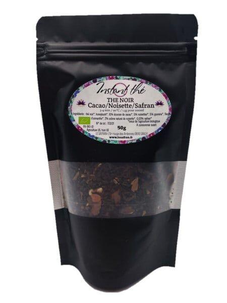 Le safran - l'or rouge des Ardennes Thé noir bio Cacao Noisettes Safran, 50g, 35 tasses