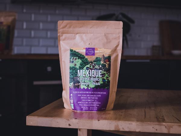 LA TRIBU Café Triunfo Verde Mexique Moulu 500g Équitable & Bio