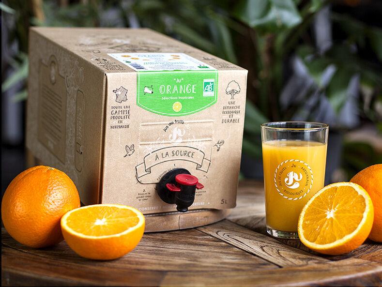 """Jus de fruits """"Ju"""" Pur Jus D'oranges Bio Du Mexique – 5 Litres"""