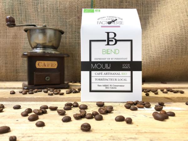 Cafés Factorerie Café Blend 3 Arabicas Bio MOULU - 250g