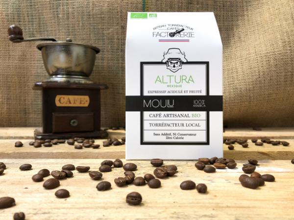 Cafés Factorerie Café Mexique Altura Bio MOULU - 250g