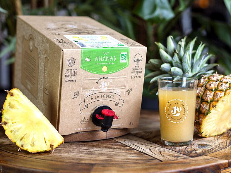 """Jus de fruits """"Ju"""" Pur Jus D'ananas Du Costa Rica Bio - 5 Litres"""