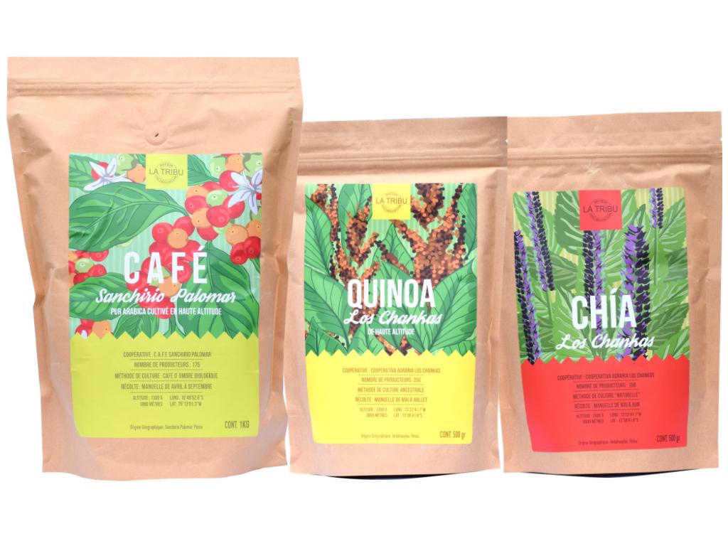 LA TRIBU Coffret Découverte : Café Grain, Quinoa, Chia