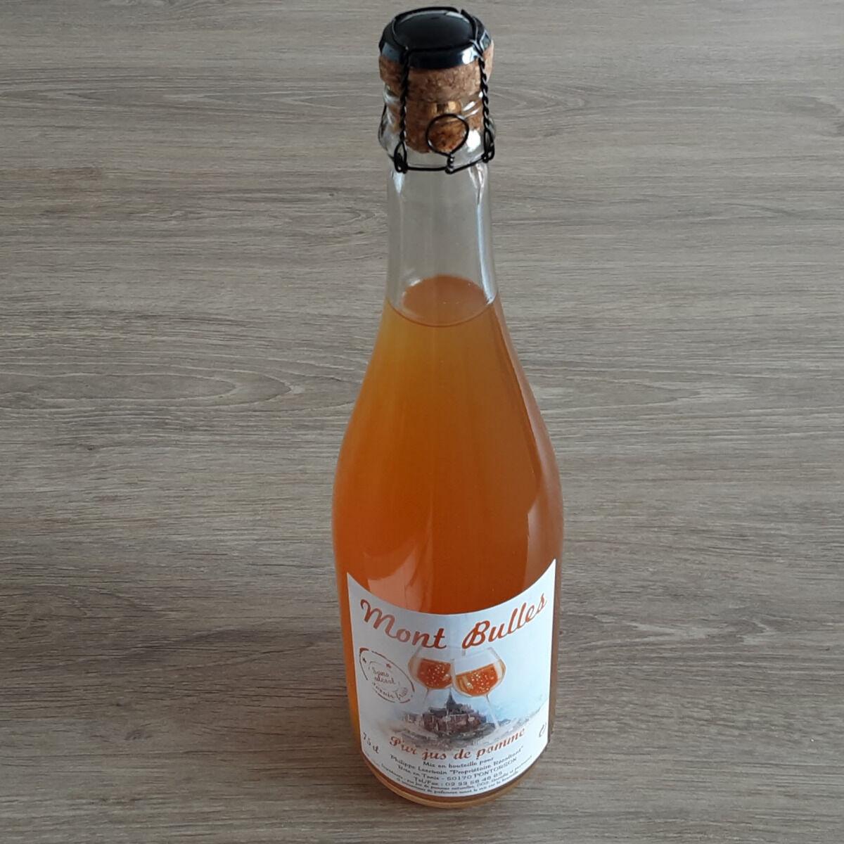Gourmets de l'Ouest Pur jus de Pomme pétillant du Mont Saint Michel