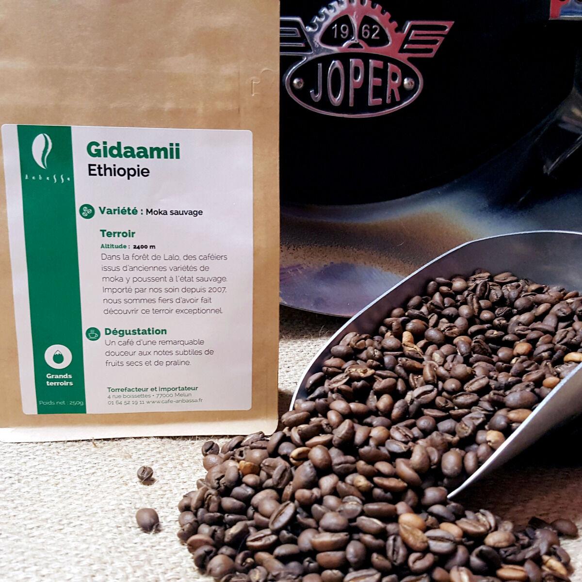Brûlerie de Melun-Maison Anbassa Café Gidaamii-ethiopie - En Grains