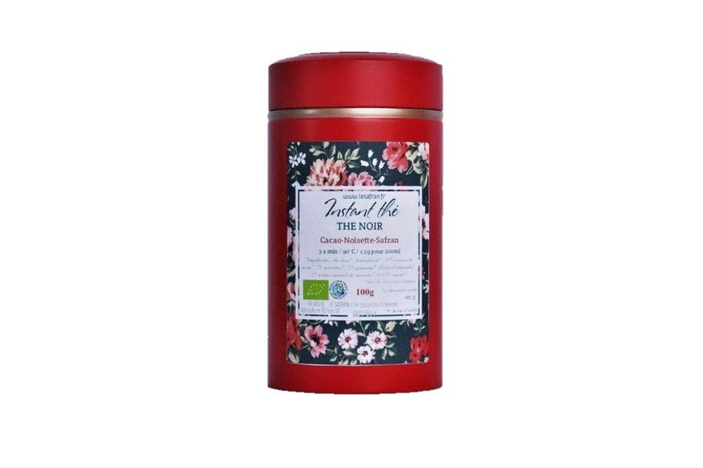 Le safran - l'or rouge des Ardennes Thé Noir Cacao Noisettes Safran, 100g, 66 Tasses Bio