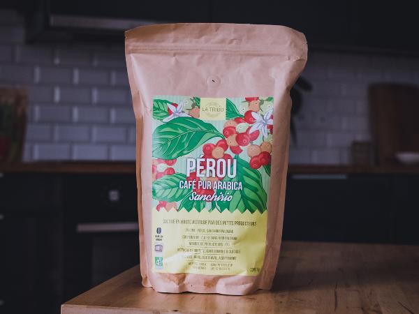 LA TRIBU Café Sanchirio Pérou Grain 1kg Équitable & Bio