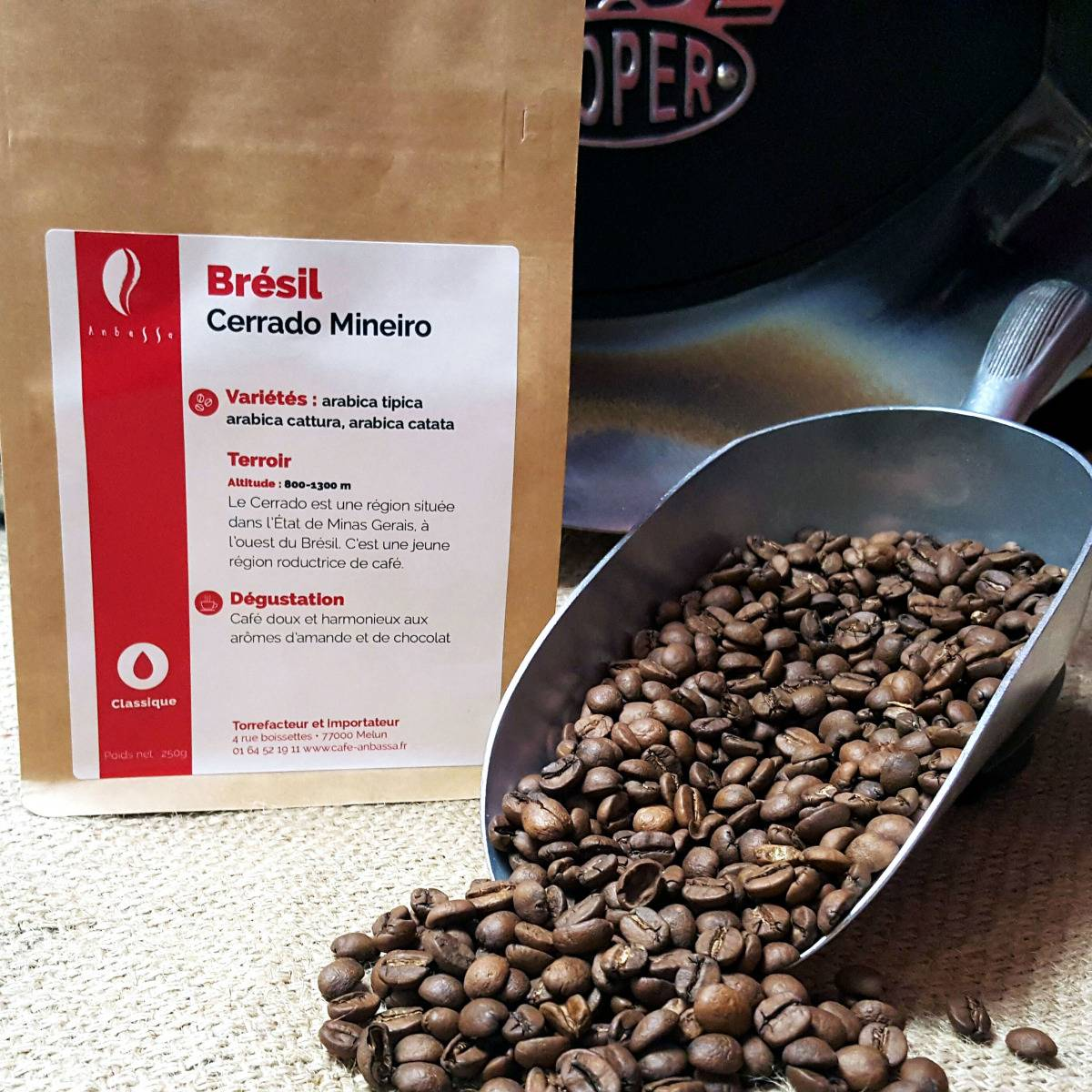 Brûlerie de Melun-Maison Anbassa Café Cerrado Mineiro-brésil - En Grains