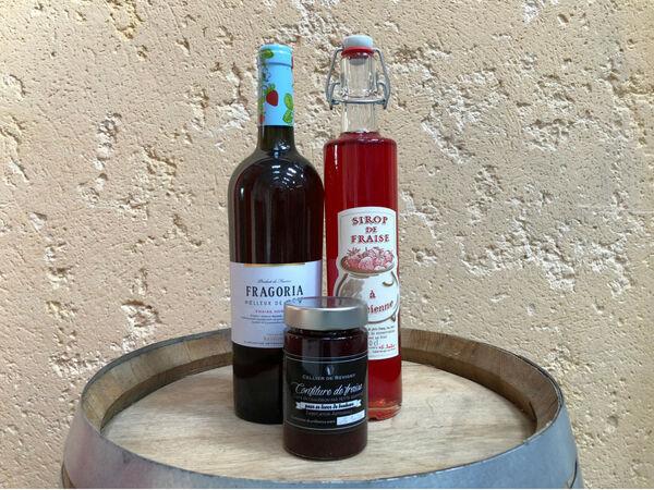 Saveur d'Ornain La Fraise : vin de fraise, confiture de fraise, sirop de fraise