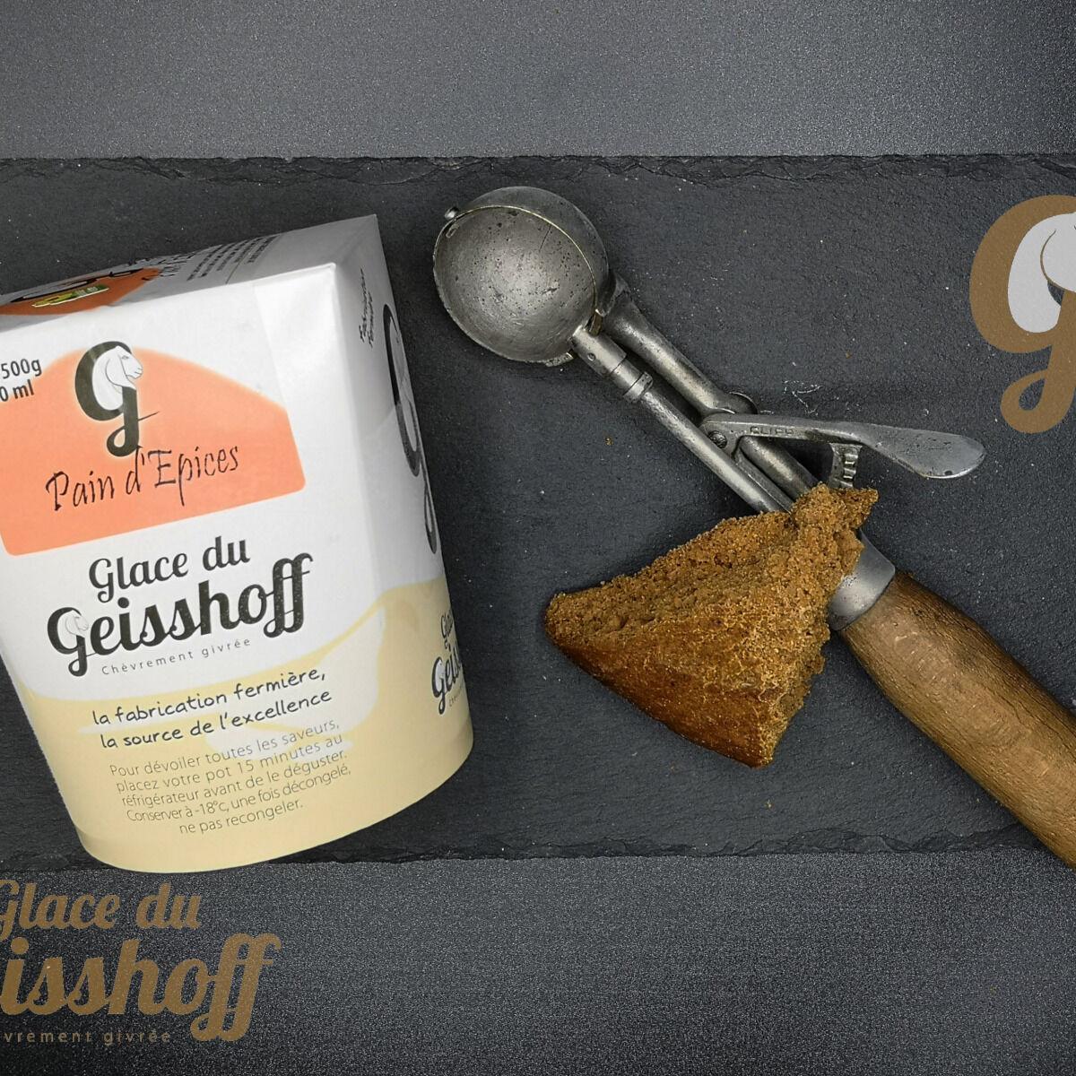 Glace du Geisshoff Pain d'Epices Crème Glacée Fermière au Lait de Chèvre 750 Ml
