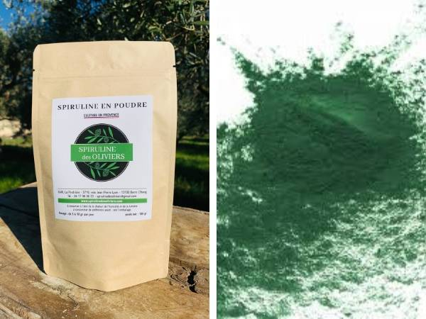 Spiruline des Oliviers Spiruline En Poudre Cultivée En Provence - 5 Sachets De 100g