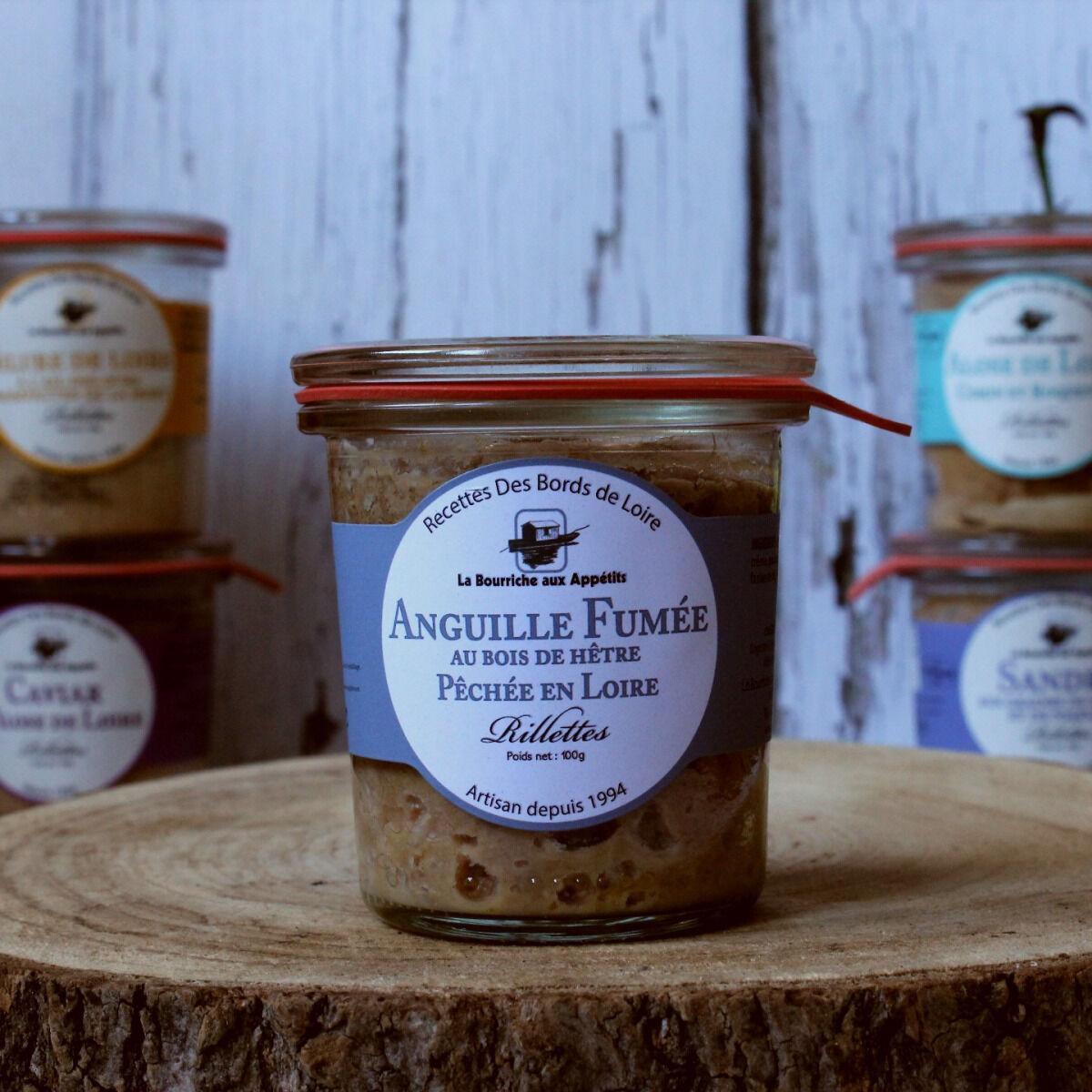 La Bourriche aux Appétits Rillettes d'Anguille de Loire Fumée au Bois de Hêtre 100 g