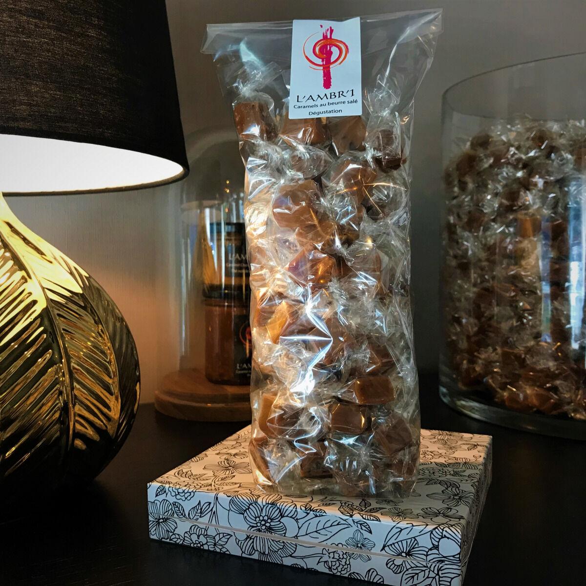 L'AMBR'1 Caramels et Gourmandises Caramel Dégustation (mélange De 10 Parfums) - Sachet De 300g