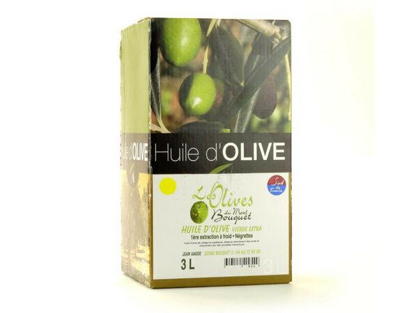 Les amandes et olives du Mont Bouquet Huile d'olive Négrette 3 L