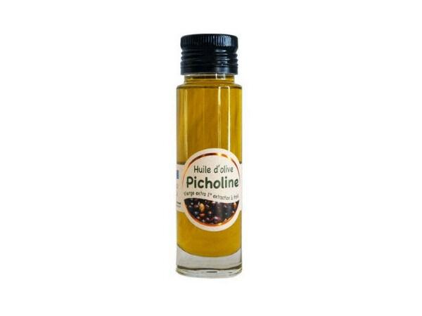 Les amandes et olives du Mont Bouquet Huile d'olive Picholine 10 cl