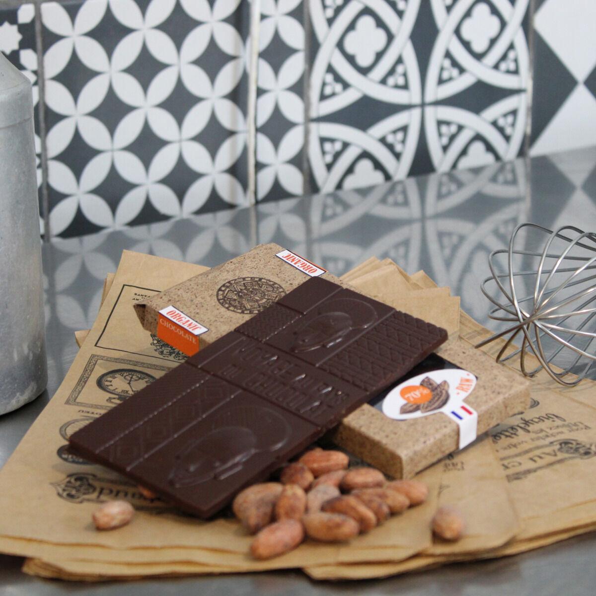 Le Petit Atelier Tablette Chocolat Cru 70% Origine Pur Pérou